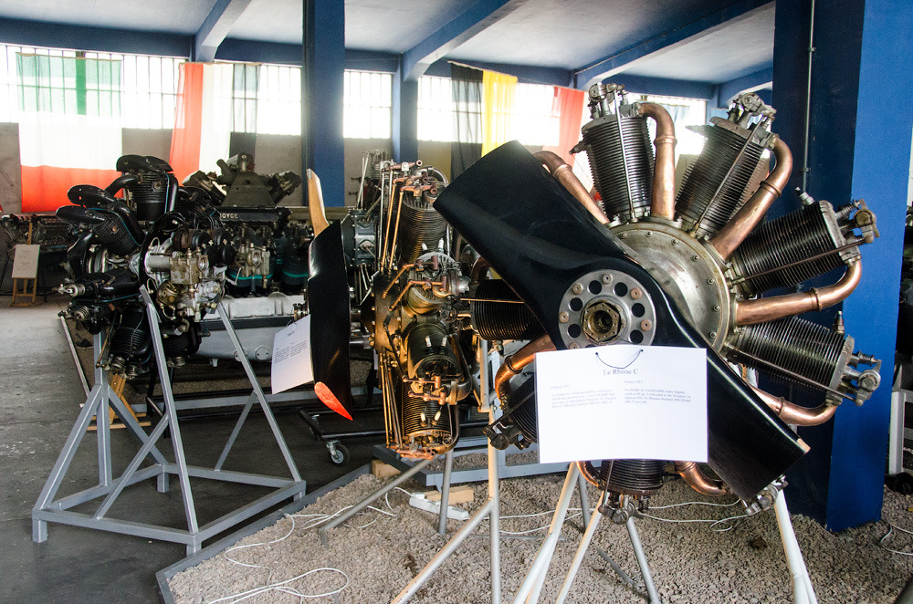 "DIESELPUNK Dizelpankovskaya collection of aircraft engines from the Museum of the Polish aviation. Russian caption says "" 9-cylinder Le Rhône 9C 1916 release, was used on many aircraft of World War II."" Note skinny finning as engine rotated created its own draft. From HERE"