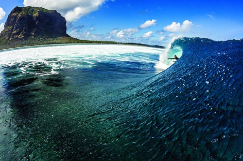 Gorgeous - being part of the wave. infinitesurf:    brandon jackson, mauritius. photo: greg ewing