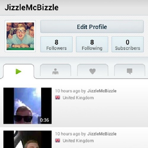 Go download the Keek app and subscribe to me! My username is JizzleMcBizzle http://keek.com/getapp