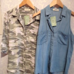 In love with these two new #button-downs from #BellaDahl! #denim #retro
