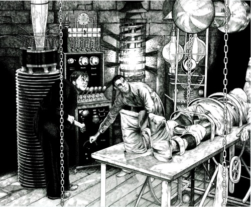 (via Frankenstein's Laboratory, in Stephen Burger's The Horror! Comic Art Gallery Room - 981151)