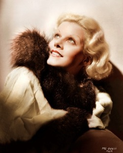 happy jean harlow in fur
