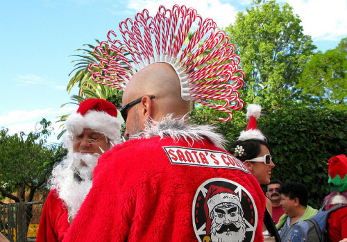 This awesome candy cane mohawk was spotted at the the 2008 SantaCon in Los Angeles. Photo by Caro Scuro [via Laughing Squid]
