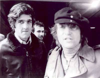 John Lennon endorses Kerry for Secretary of State.