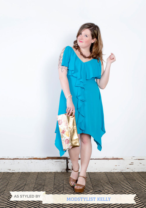 The Aqua Are the Chances? Dress is so perfect for warm evenings and summer soirees. I am always on the hunt for a great party dress and most certainly found one in this ruffled number! Add a flirty clutch with strappy wedges and this dress will have to twirling the night away. <3 Kelly, ModStylist Need styling suggestions, trend tips, or dress details? Ask a ModStylist and your question might be featured on our feed
