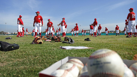 Diablos Rojos del México, doing some spring training. Source