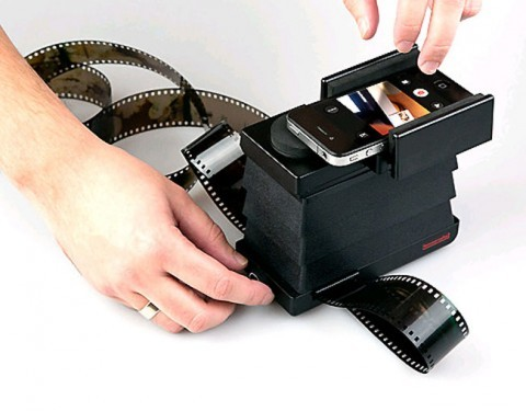 lostateminor:  > The Lomography Smartphone Film Scanner  Who amongst you is still shooting analog photos or have heaps of film lying around at home? The Lomography Society has invented the Smartphone Film Scanner to scan, edit, print and share all 35mm films. It fits into any rucksack and comes with a specific smartphone app to edit the photos on the go. That sounds like a must-have tool for analog junkies who enjoy living in the 21st century.