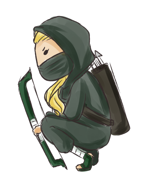Anonymous asked you: ARTEMIS AS A NINJA!  So bad ass.