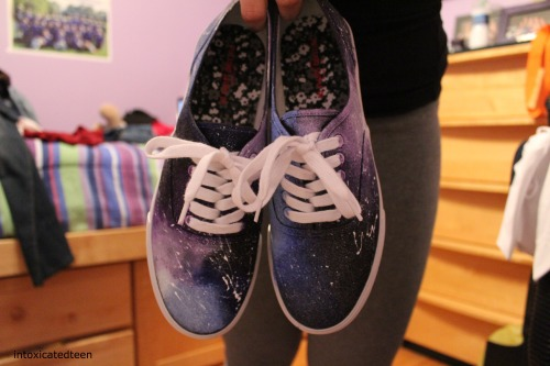 intoxicatedteen:  my friend made me galaxy shoes too (: