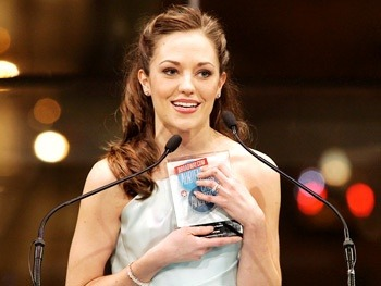 "broadwaycom:  BACA 2013 highlight! See Laura Osnes, CINDERELLA's gracious star, display why she's ""Broadway's princess""  When I first heard about Laura a while back, I thought her name was pronounced ""Oz-knees."""