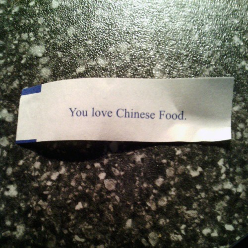 I sure do! #FortuneCookie