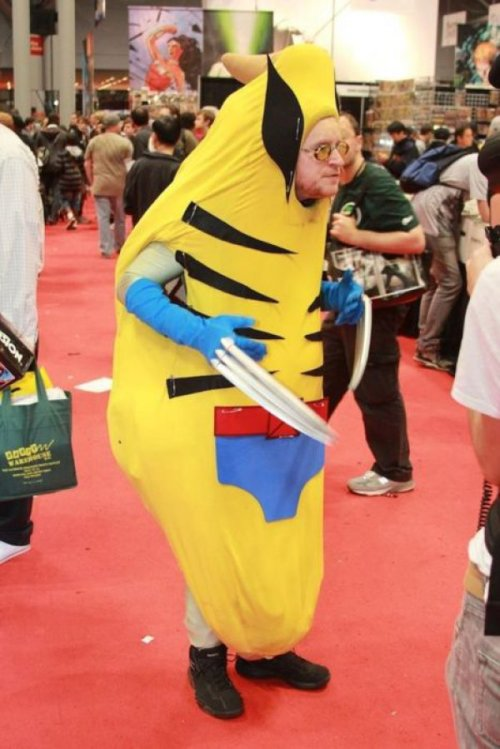 What Happens When You Mix Wolverine With a Banana Fortunately he finds it very easy to peel himself.