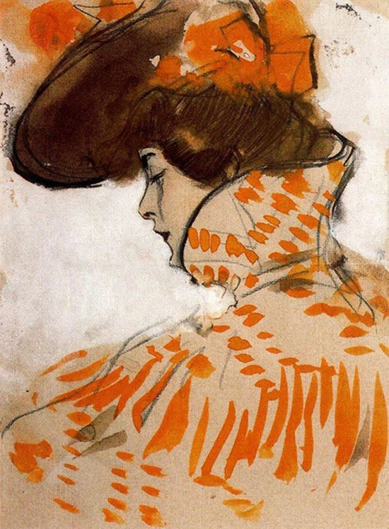 acqua-di-fiori:  Ramon Casas i Carbó (1866-1932) Orange Inspiration