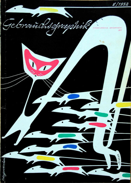 """Gebrauchsgraphik – International Advertising Art"", August 1952 Artist: Breker"