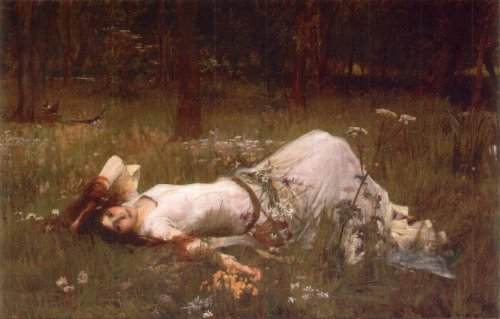 "John Williams Waterhouse, ""Ophelia,"" 1889."