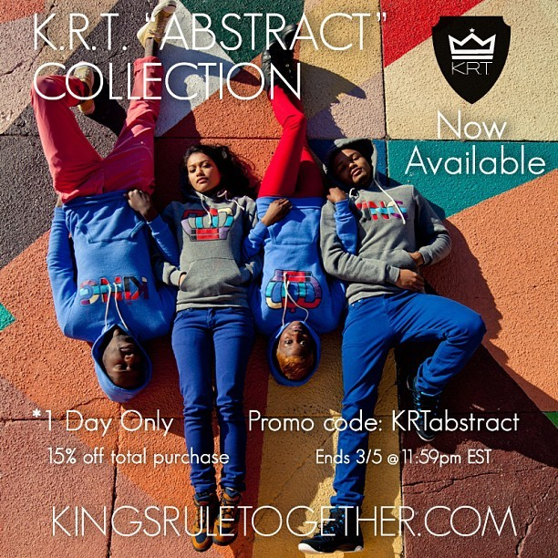 #KRT abstract collection is now available online at www.kingsruletogether.com. And for one day only we will be doing a 15% off entire purchase with code KRTabstract at checkout lasting until 3/5 11:59 pm est. #abstract #art #kingsinspirekings #queensinspirekings #pietmondrian #modrian #lifestyle #inspire #kingsruletogether #KRT