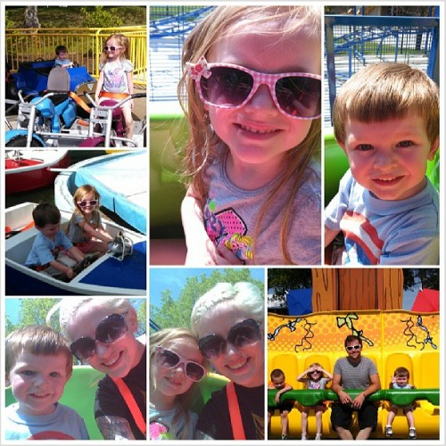 First trip to World's of Fun. My babies love the roller coasters