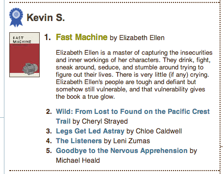 POWELL'S STAFF TOP 5s of 2012