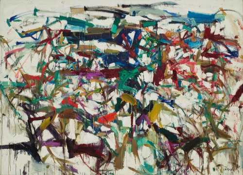 "Joan Mitchell (American, 1925–1992). Ladybug. 1957.Oil on canvas, 6' 5 7/8"" x 9'(197.9 x 274 cm). The Museumof Modern Art, New York.Purchase"