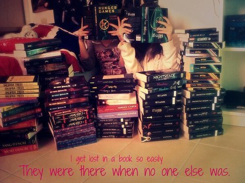 sweetnessied:  books on We Heart It. http://weheartit.com/entry/53064468/via/ClaraAlonso9