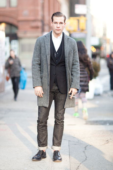 details:  Street Style: Mixing Up a Three-Piece Suit