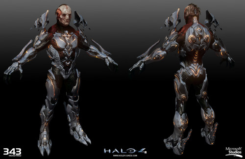 Behind-the-scenes shot of The Didact, Halo 4's villain. HIGH-RES IMAGE Model, Textures & Materials by Kolby Jukes | Concept by Gabriel Garza & Kenneth Scott | Shaders by Howard Coulby