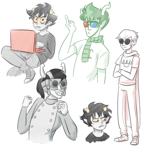 super quick homestuck doodles