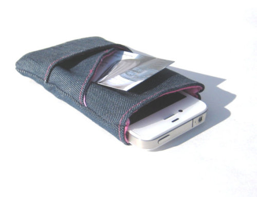 iPhone Sleeve Cell Phone Case Padded Eco by SmiLeaGainCreations