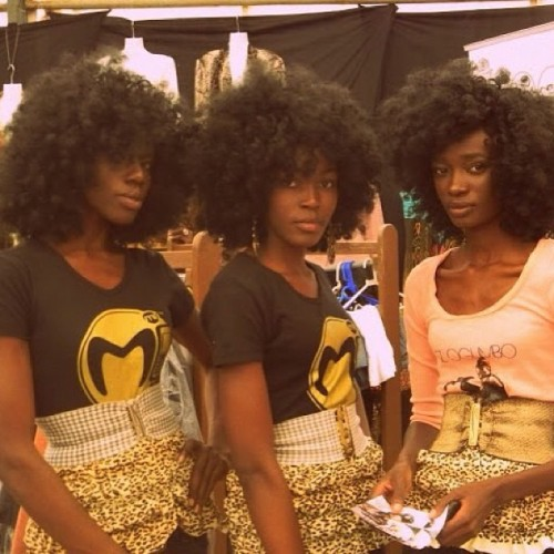 Triple threat of #NaturalHair Beauty. @CurlKit #naturalcurls #ethnicbeauty