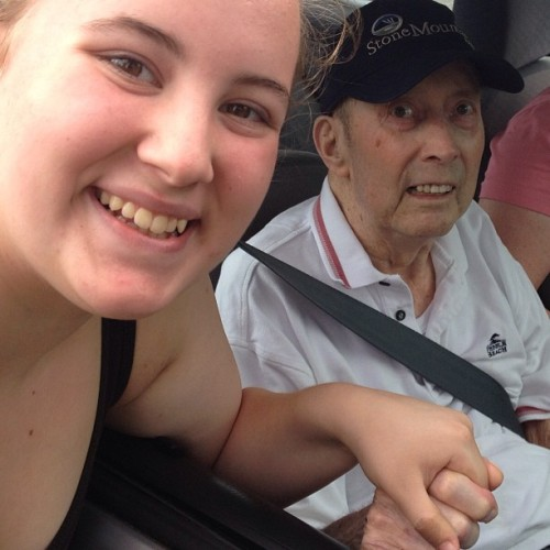 Day 12: Family. This is my great grandpa Jex. He is one of the sweetest guys in the world. He is living his life to the fullest. He's not very mobile, but he's enjoying his life while he's here. I haven't seen him in such a long time. I'm glad he's still here and living, even though he looks miserable. I love you grandpa, and I'm happy to see you. <3 #may #photochallenge #mayphotochallenge #day12 #daytwelve #family #greatgrandpa #beautiful #misshim #lovehim #sweet #kind #sweetheart #strong #living #yolo #livinglife #fullest #livinglifetothefullest #jex #enjoy #bethankful #foreveralive #me #holdinghands #respect #howmanylikes #tagforlikes #tflers