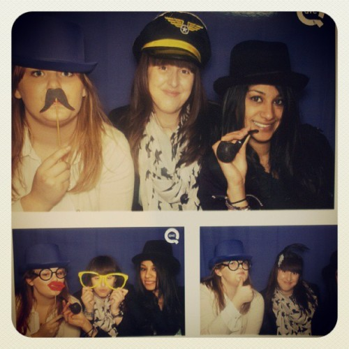Love our latest photobooth snap @kathrynbarrett121 @hifashionsherin - I think I need a pilots hat!