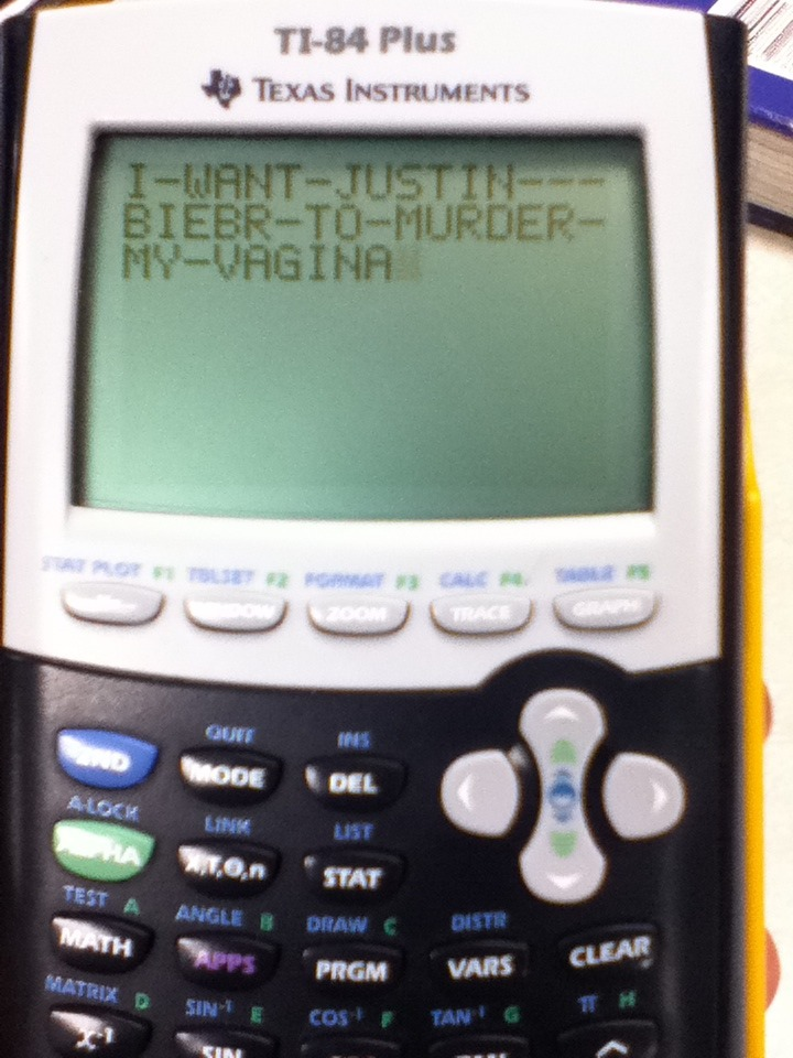 crysterbate:  learning so much in math class :)