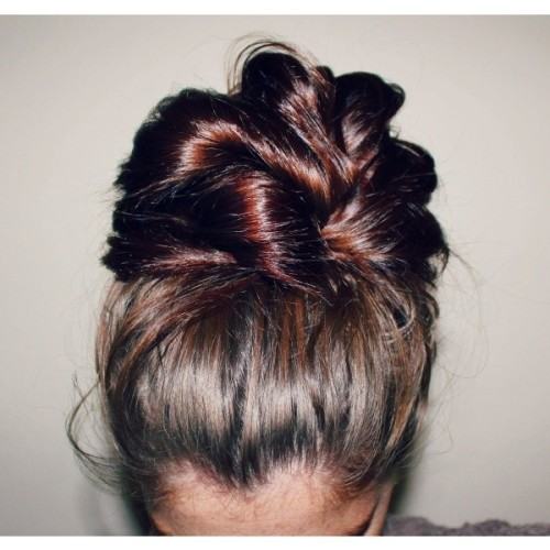 thebigducksfuture:  Beat the Heat The Top Knot   ❤ liked on Polyvore