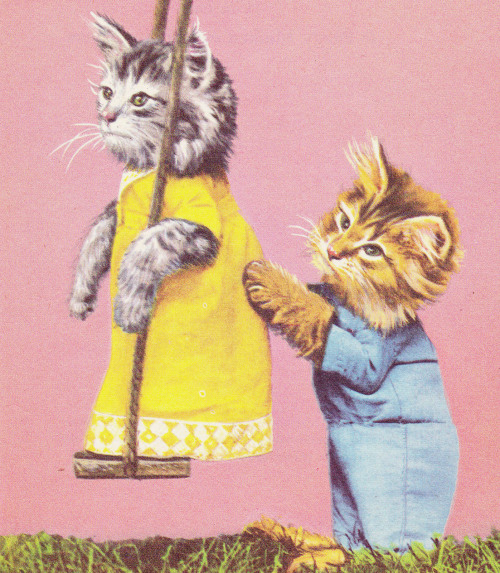 retrogirly:  Swingin' kitty Saturday