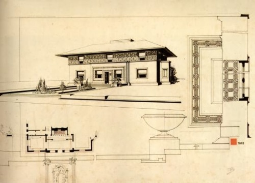 prairieschoolarchitecture:  Frank Lloyd Wright, WIlliam Winslow House, River Forest, Illinois, 1893