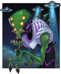 Alien by *GhostHause —-x—- More: | Aliens | Random |