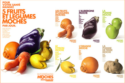 Great ad campaign encourages customers to buy oddly shaped fruit.