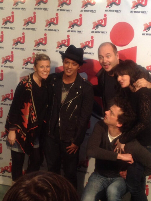 Feb 20th: Bruno Mars at NRJ Radio Studio