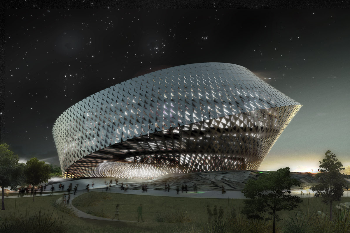 2009 design concept for National Library in Astana, Kazakhstan