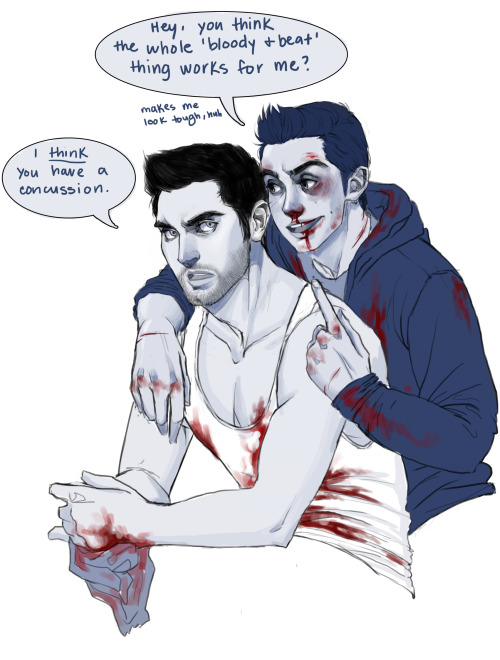 I have a weird kink thing for bloody Stiles and then this happened so
