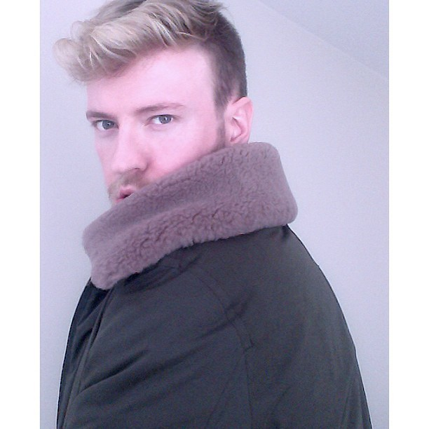#me #self #gay #acnestudio #shearling #male #beard