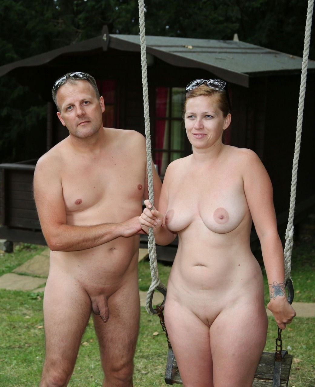 Vintage nudist naturist couples