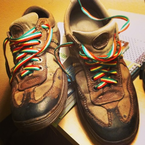 """Ital warrior: charred tip"" Custom Doc Maarten's by aMorle #kicks #customkicks #ital #itesgoldgreen #rastafari #selassie #bushman #bushsneakers #amorle #design #laces #burnttip #charred #acidtip #sneaker #sneakerfreaker"
