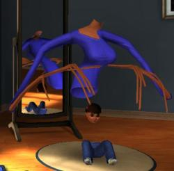 ifyouhadwings:  zip-a-dee-lady:  but can any of you top this sims glitch?  yet another unrealistic standard for women