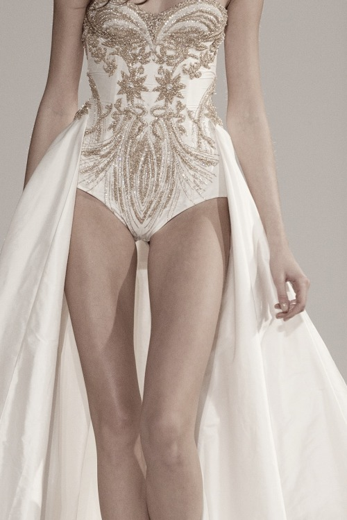 femu-r:  ampersand-et:  dilek hanif haute couture ss12.  her legs are so beautiful