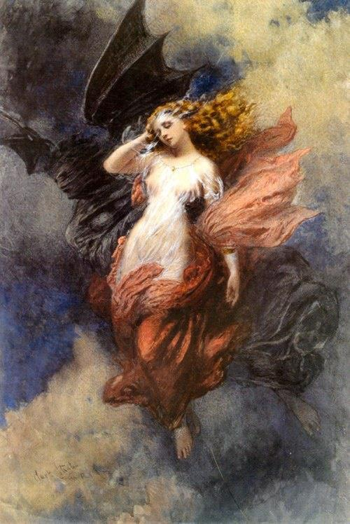 jourdepluie91:  Death and the Maiden - George Clark Stanton (1832 - 1894)