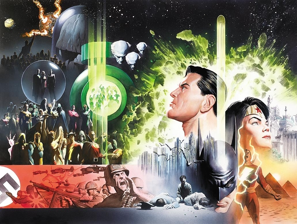 brianmichaelbendis:  History of the DC Universe by Alex Ross
