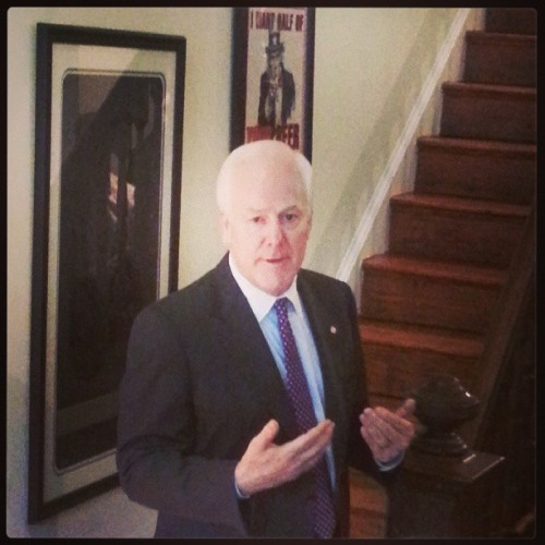 John Cornyn, not mincing words.
