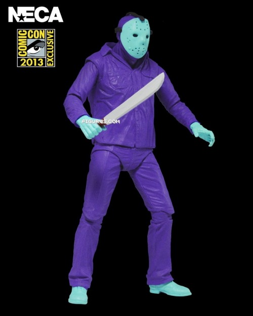 dinosaurdracula:  comicsxaminer:  New Images: NECA SDCC '13 Exclusive Friday The 13th Action Figure  Figures.com nabbed the first look at NECA's SDCC '13 exclusive. This Friday The 13th Jason…  View Post  I am DYING. There have been plenty of SDCC exclusives that caught my interest from afar, but this is the first time when I've absolutely NEEDED one and would put myself into the poorhouse to get it. (Not going to SDCC, so I'll be paying eBay prices.) There is no f'n way I won't own this. NECA continues to be so freakin' incredible. This is what, TEN STRAIGHT YEARS now of them being the best? I remember spitting saliva all over their showroom back at the *2004* Toy Fair. And they weren't even completely new, even then! GAH. Brilliant. Just brilliant.  This is a brilliant idea!