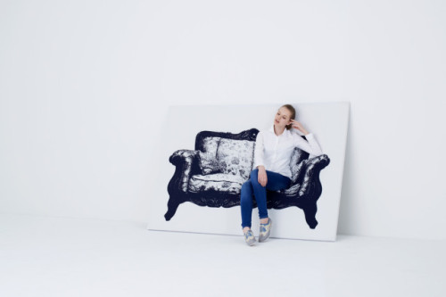 laughingsquid:  Canvas, A Picture of a Chair that Doubles as a Chair  I need this now.